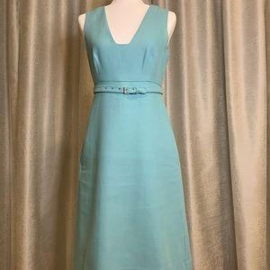 Diane Von Furstenberg dress w/belt+pockets size 6